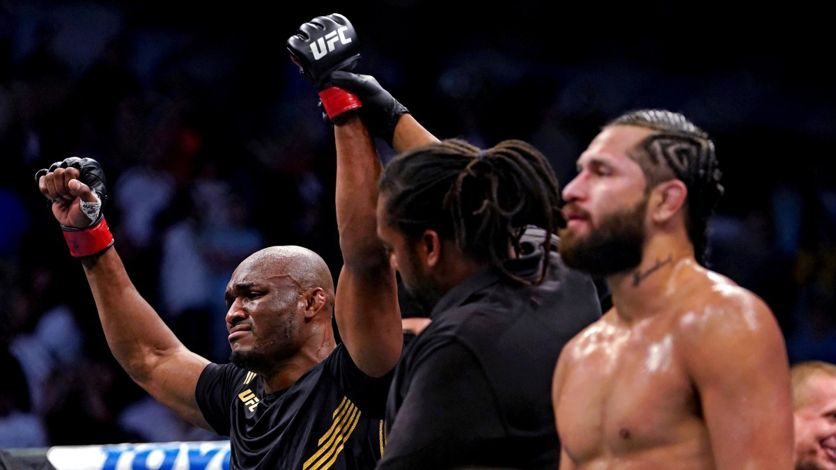 Kamaru Usman at UFC 261