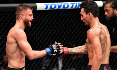 Holloway and Kattar embrace after five rounds of war