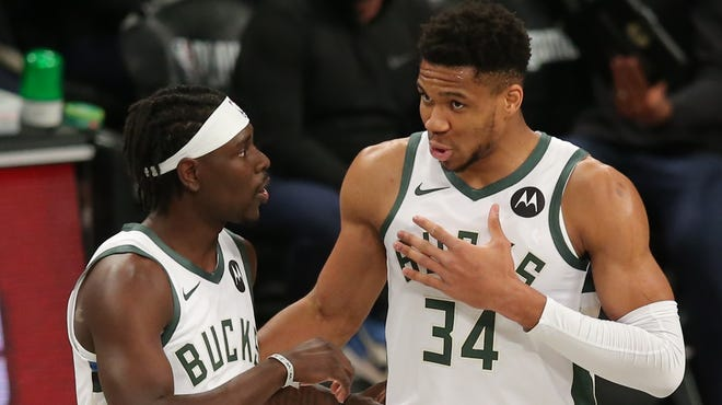 Milwaukee Bucks Giannis and Holiday discuss strategy