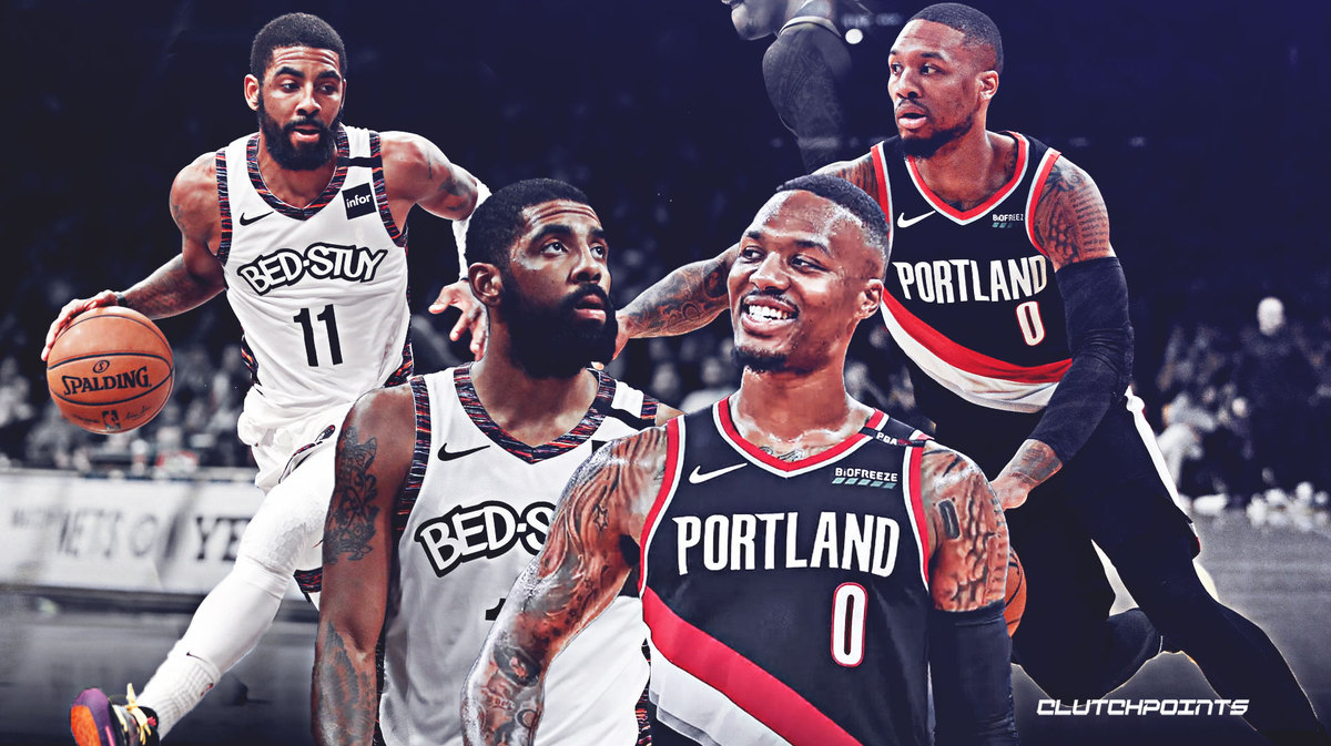 Kyrie Irving and Damian Lillard over the years