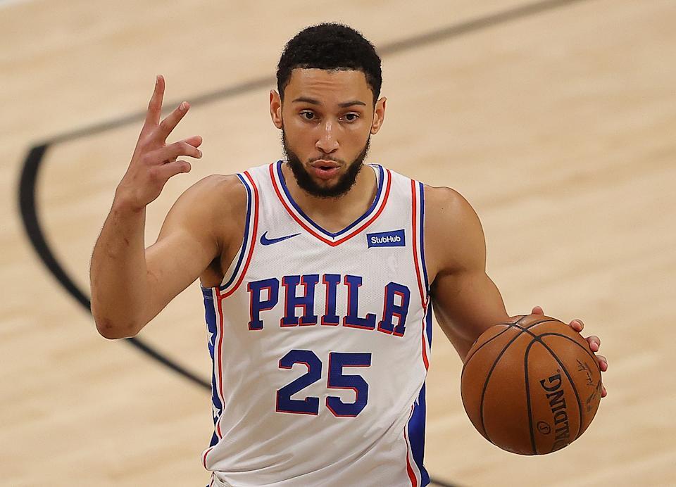 Philadelphia 76ers Ben Simmons on offense