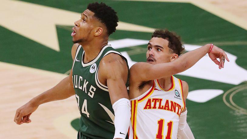 Milwaukee Bucks Giannis and Atalanta Hawks Trae Young