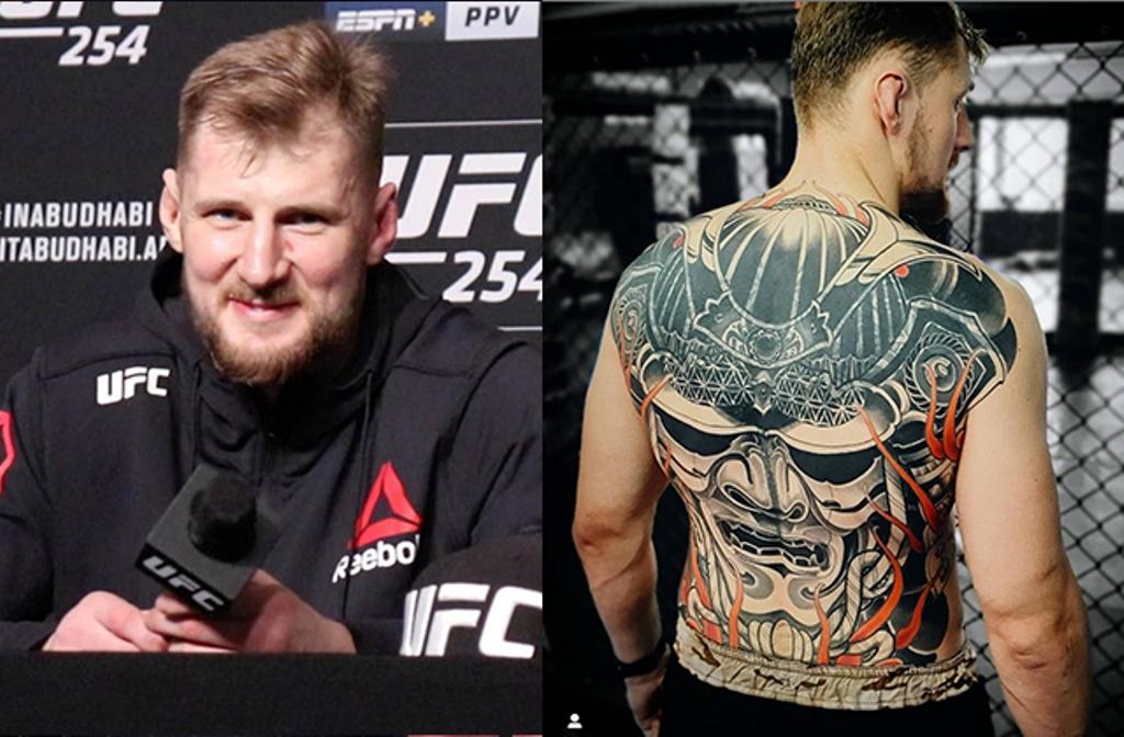 Alexander Volkov back tattoo