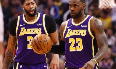 LA Lakers Lebron James and Anthony Davis