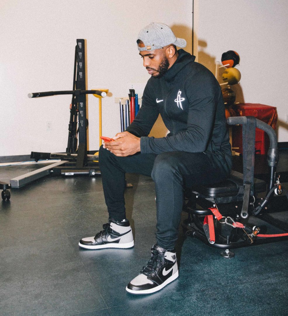 Phoenix Suns Chris Paul sitting alone