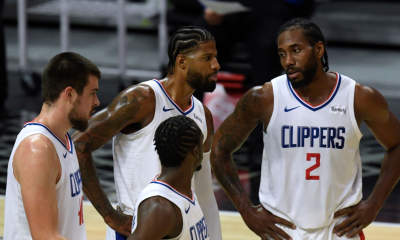 LA Clippers Kawhi Leonard and Pg with squad