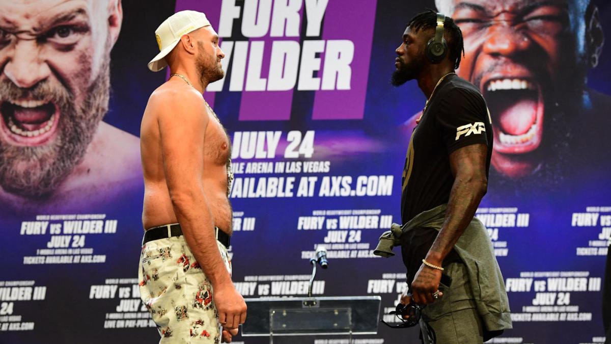 Tyson Frury vs Deontay Wilder faceoff