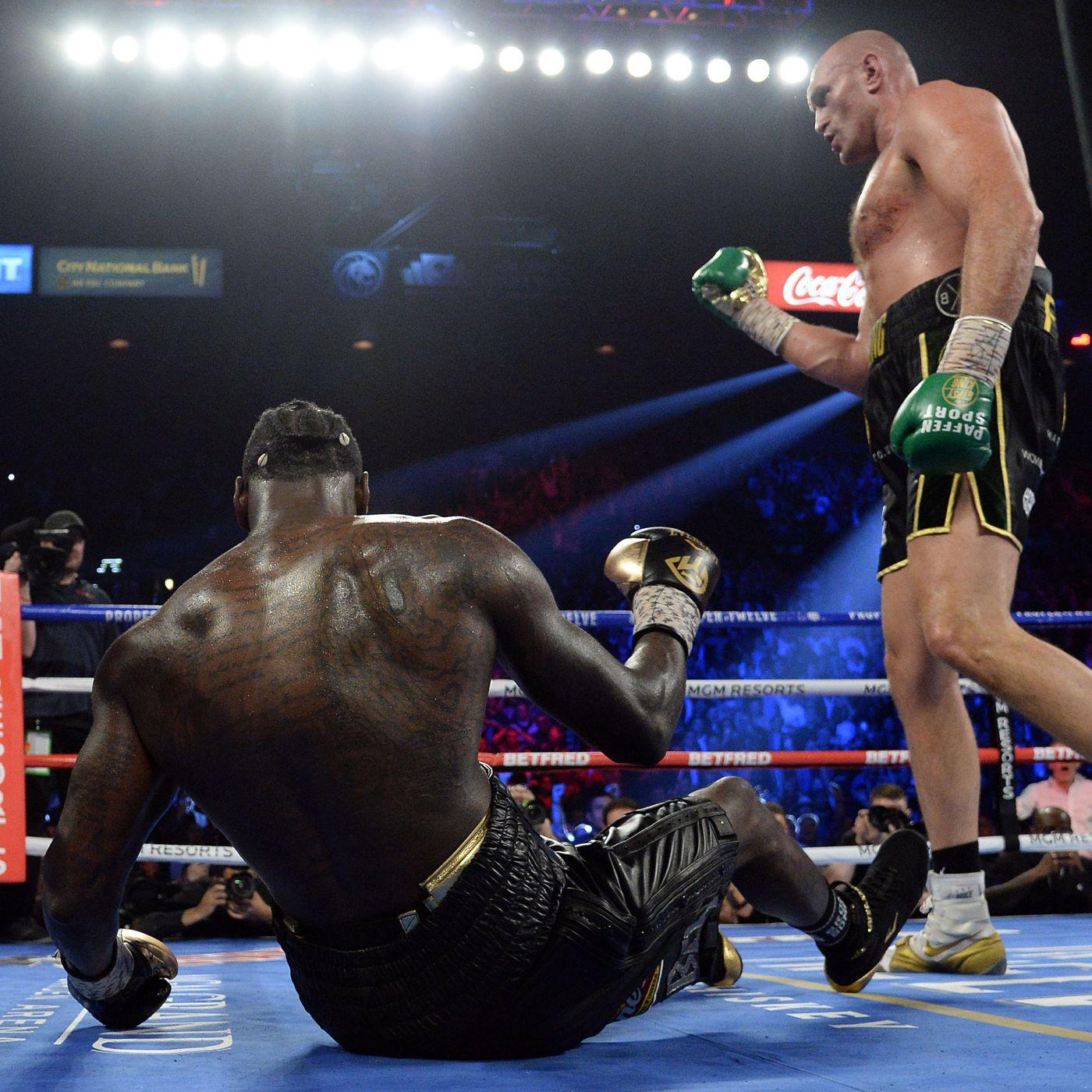 Tyson Fury against Deontay Wilder