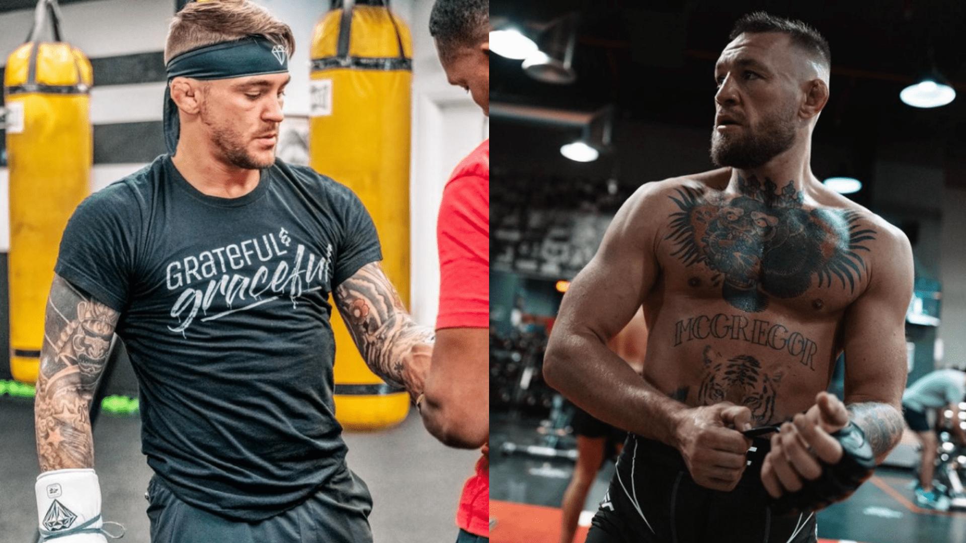 UFC 264 Dustin Poirier and Conor McGregor