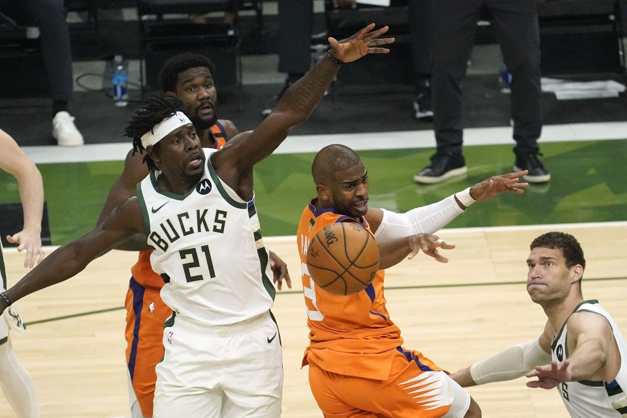 Phoenix Suns cp3 vs Milwaukee Bucks Jrue Holiday