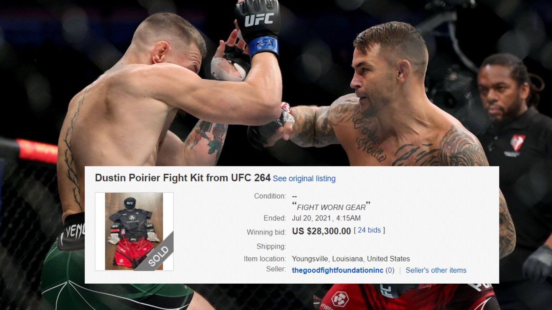 Dustin Poirier fight kit UFC 264