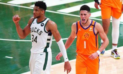 Milwaukee Bucks Greek Freak and Phoenix Suns Devin Booker