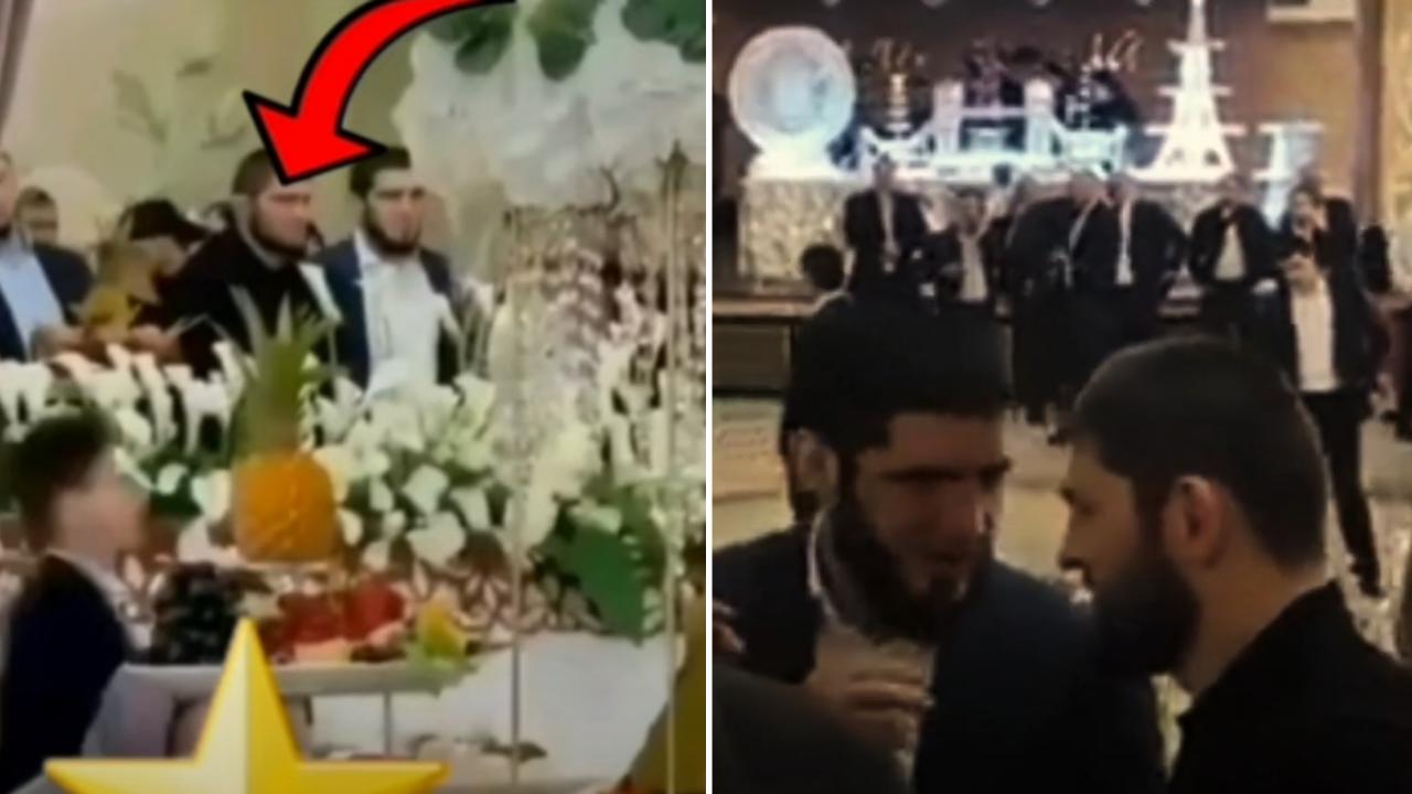 Khabib Nurmagomedov at Islam's marriage