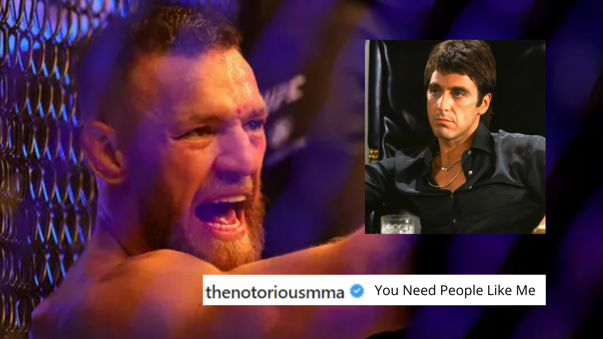 McGregor uses scarface dialogue after UFC 264