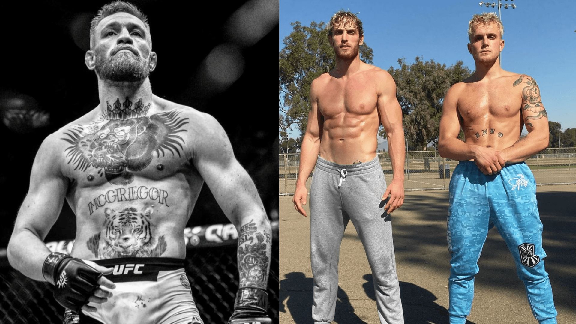 Conor McGregor with the Paul Brothers
