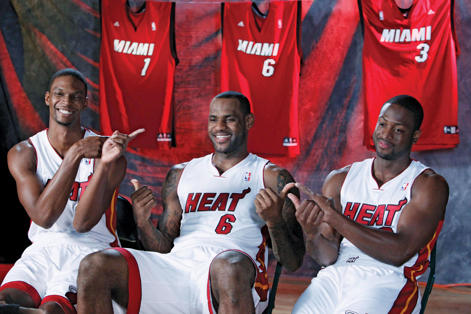 LeBron, Wade and Bosh