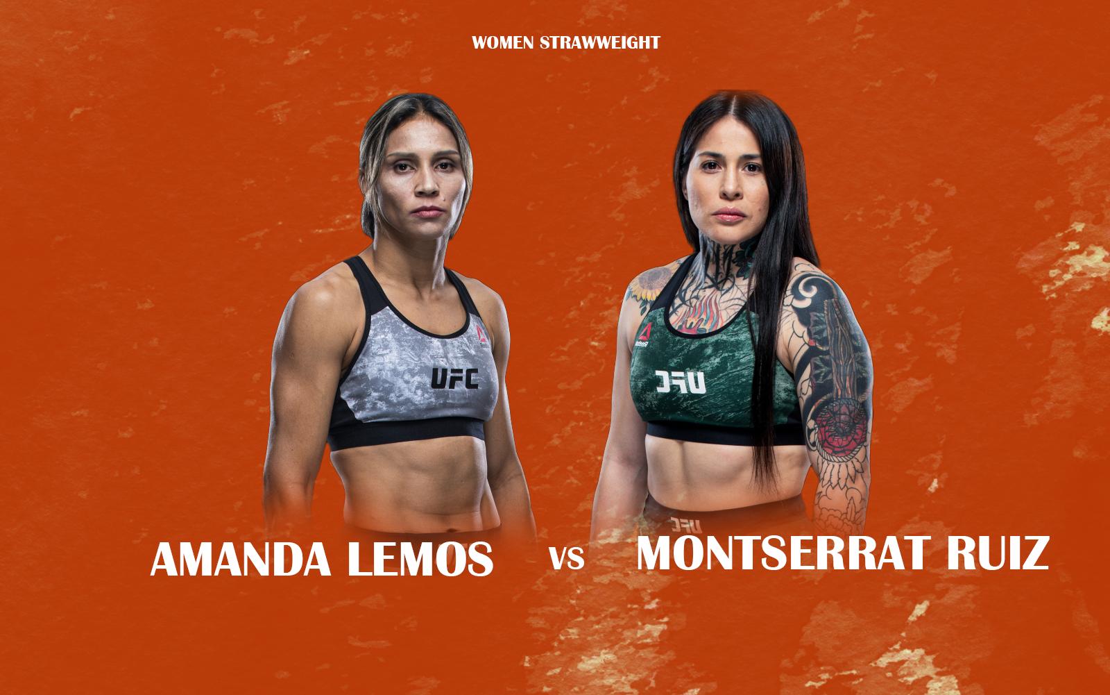 Amanda Lemos vs Montserrat Ruiz