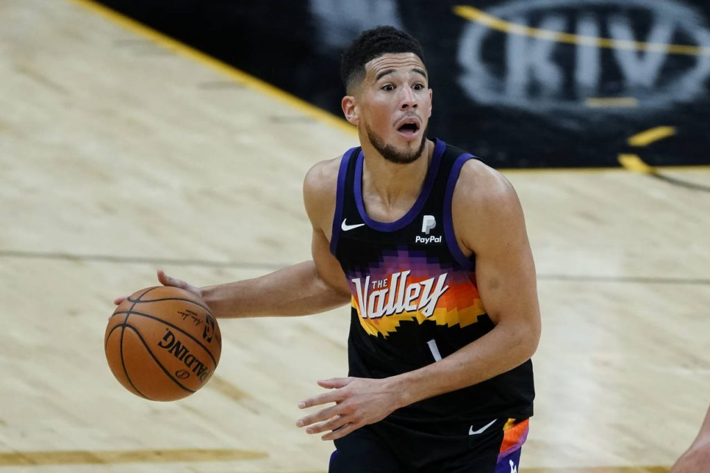 """Phoenix Suns Booker in """" The Valley"""" Jersey"""