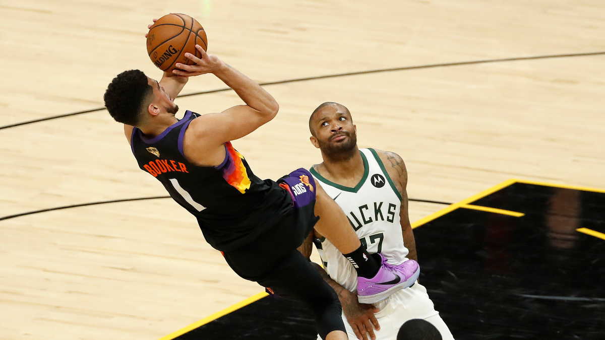 Is Devin Booker Beating PJ Tucker in the shoe game?