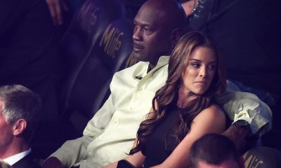 Michael Jordan relaxed and sitting