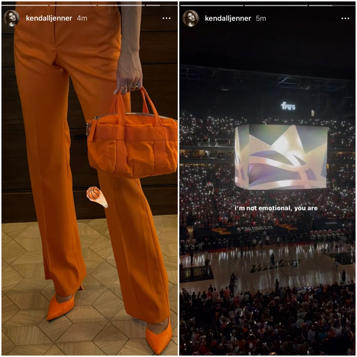 Kendall shows her support for Devin Booker
