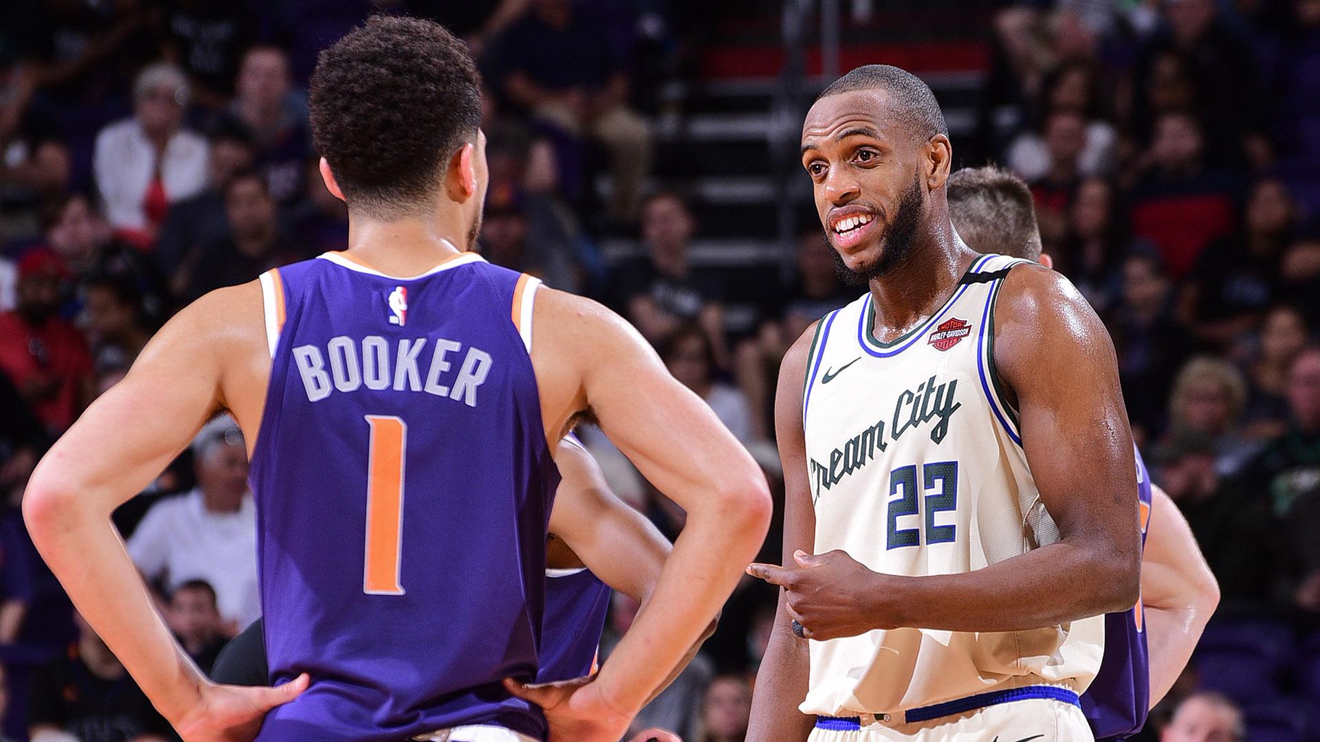 Milwaukee Bucks Khris and Phoenix Suns Booker