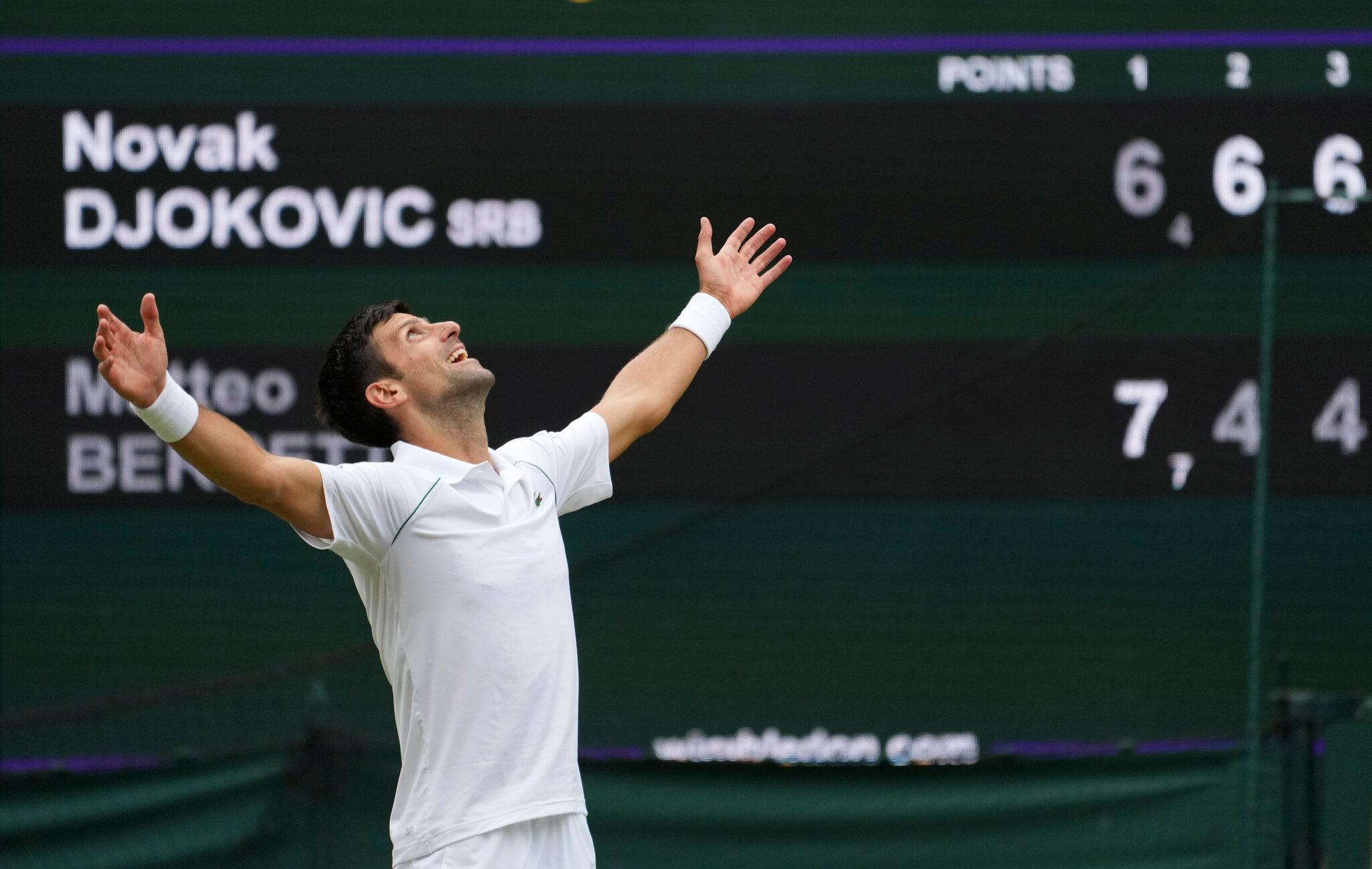 Novak wins the Wimbledon
