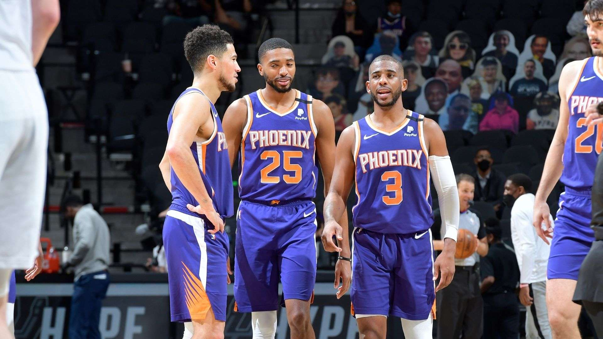 Phoenix Suns together vs Milwaukee Bucks